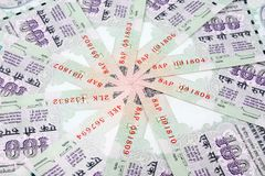 Indian currency 100 rupee notes in a circle Stock Photography