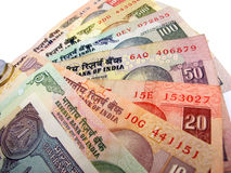 Indian Currency. Various notes of indian currency Stock Images