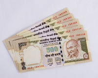 Indian Currency. Banknotes - isolated white back ground Stock Image