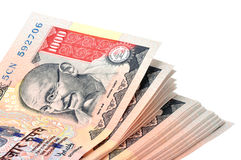 Indian currency. Thousand rupee indian currency notes with clipping path Stock Image
