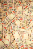 Indian currency background. Background created with 1000 Rupee notes Stock Photography