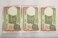 Indian currency background. Stock Photography