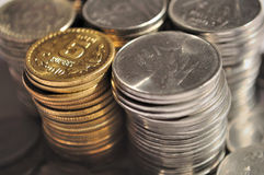 Indian Currency and Coin Royalty Free Stock Photography