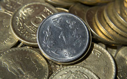 Indian Currency Coin One Rupee Stock Photography