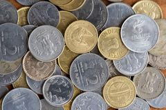 Indian Currency Coins as Background stock photography