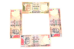 Indian currency frame. With white background Stock Image