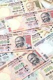 Indian currency notes Stock Image