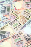 Indian currency notes. Closeup of Indian currency notes Royalty Free Stock Photography