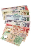 Indian currency notes and coins Stock Images