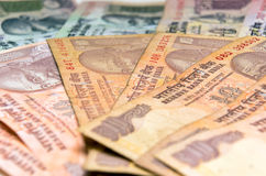 Indian Currency Rupee bank notes Stock Photos