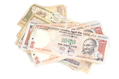 Indian Currency Rupee bank notes Royalty Free Stock Photo