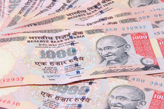 Indian Currency. Indian 1000 Rupee, Close up shot of Indian Currency royalty free stock image