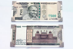 Indian currency of 500 rupee notes. Royalty Free Stock Photography