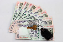 Indian currency of 100 rupee notes. Royalty Free Stock Image