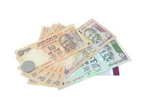 Indian Currency. Indian rupees on a credit card Royalty Free Stock Photo