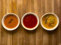 Indian curries Stock Photos