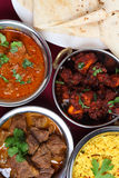 Indian curries from above Stock Image
