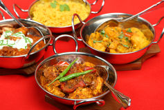 Free Indian Curries In Serving Dishes Stock Photo - 10340070