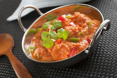 Indian Curry Chicken Jalfrezi Stock Photo