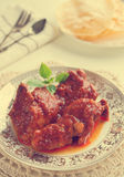 Indian curry chicken. Royalty Free Stock Image