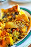 Indian curry cuisine. Traditional Indian vegetable curry cuisine on plate royalty free stock photography