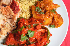 Indian Curry Dinner Royalty Free Stock Photos