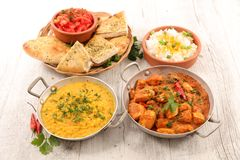 Indian curry and dish royalty free stock photos