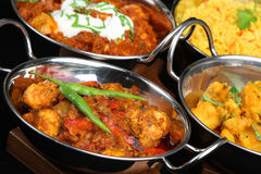 Indian Curry Dishes Stock Photo