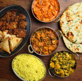 Indian Curry Food Meal Dishes Stock Image