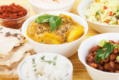 Indian curry with ginger and potato Royalty Free Stock Photos