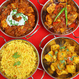 Indian Curry Meal Royalty Free Stock Photography