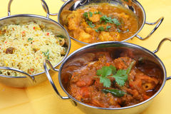 Indian Curry Meal Stock Photography