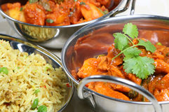 Indian Curry Meal Food Royalty Free Stock Photos
