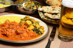 Indian Curry Meal Food Dinner Royalty Free Stock Images