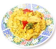 Indian curry with rice Royalty Free Stock Photography