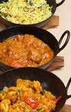 Indian Curry Selection Royalty Free Stock Images