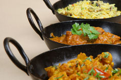 Indian Curry Selection Stock Images