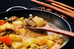 Indian curry and spices. Stock Photo