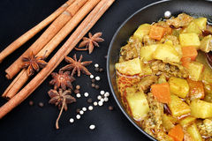 Indian curry and spices. Royalty Free Stock Photography