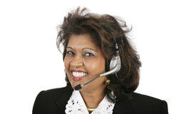 Indian Customer Service Agent Stock Photos