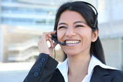 Indian Customer Service Woman Stock Image