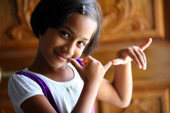 Indian cute girl Stock Images