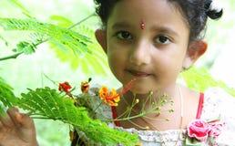 Indian Cute Girl Stock Photo