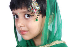 Indian Cute Little Girl Stock Photography