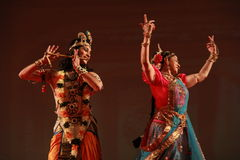 Indian Dance Ballet Royalty Free Stock Photography
