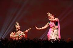 Indian dance duet Stock Photos