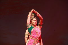 Indian dance expression Royalty Free Stock Photos