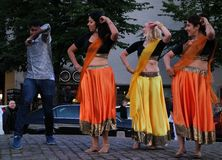 Indian dance and music at the Night of the Arts festival in Helsinki, Finland Stock Photos