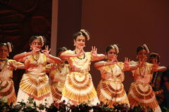 Indian dance posture Stock Images