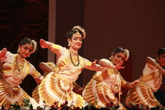Indian dance posture Royalty Free Stock Images